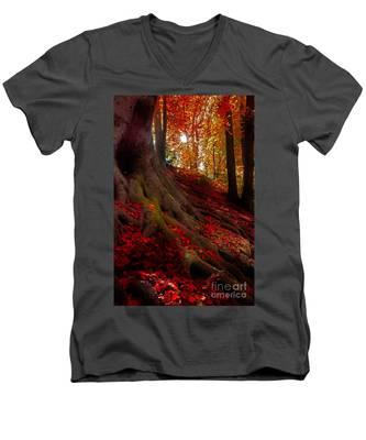 Autumn Light Men's V-Neck T-Shirt