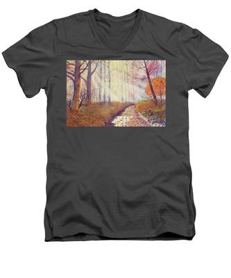 Autumn Memories Men's V-Neck T-Shirt
