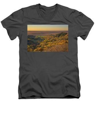 Autumn View At Waubonsie State Park Men's V-Neck T-Shirt