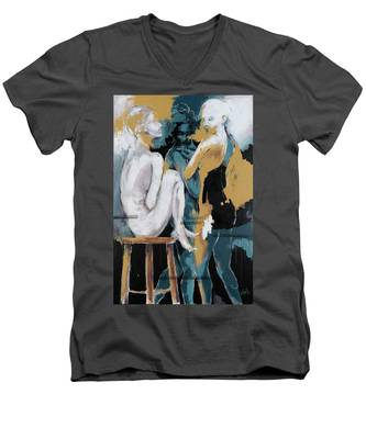 Backstage - Beauties Sharing Secrets Men's V-Neck T-Shirt