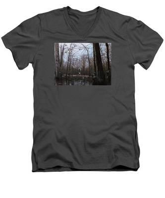 Bayou Meto Morning Men's V-Neck T-Shirt