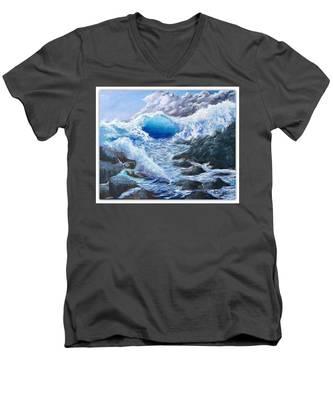 Blue Storm Men's V-Neck T-Shirt