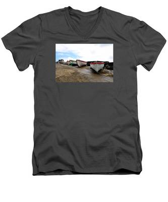 Men's V-Neck T-Shirt featuring the photograph Boats,fishing-24 by Joseph Amaral