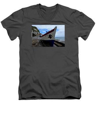 Men's V-Neck T-Shirt featuring the photograph Boats,fishing-26 by Joseph Amaral