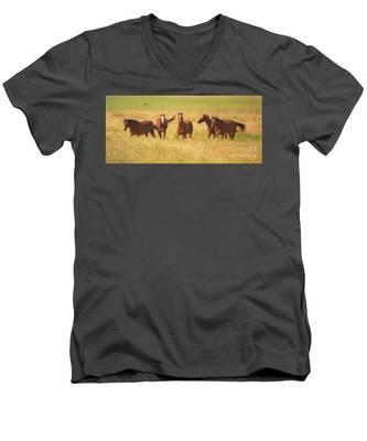 Brothers Men's V-Neck T-Shirt
