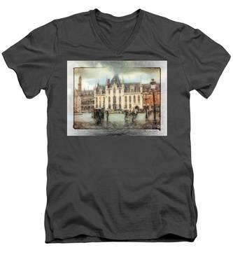 Bruges, Belgium Men's V-Neck T-Shirt