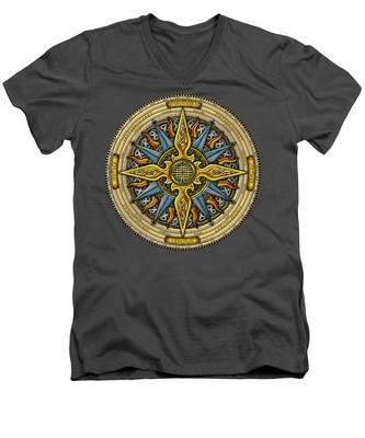 Celtic Compass Men's V-Neck T-Shirt