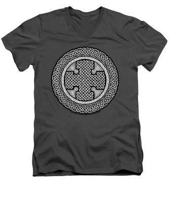 Celtic Cross Men's V-Neck T-Shirt