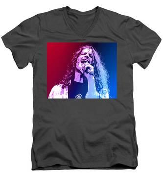 Chris Cornell 326 Men's V-Neck T-Shirt