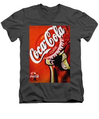 Coca Cola Classic Men's V-Neck T-Shirt