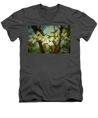 Cool Breeze Painterly Men's V-Neck T-Shirt