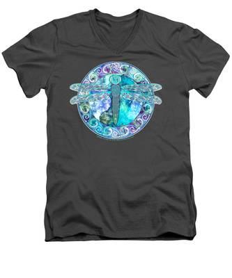 Cool Celtic Dragonfly Men's V-Neck T-Shirt