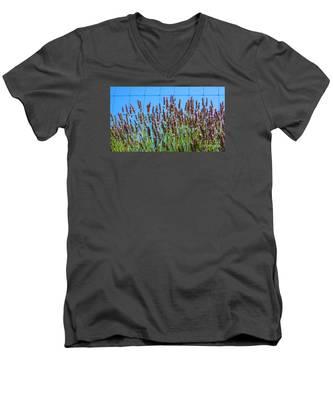 Country Lavender IIi Men's V-Neck T-Shirt