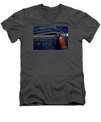 Denim Men's V-Neck T-Shirt