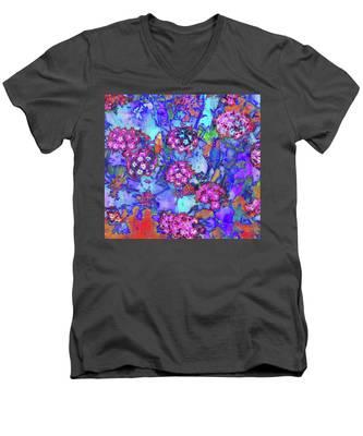 Desert Vibe Bloom Men's V-Neck T-Shirt