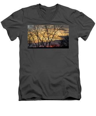 Early Spring Sunrise Men's V-Neck T-Shirt