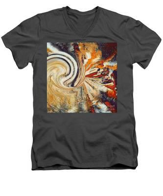 Earth Tones Men's V-Neck T-Shirt