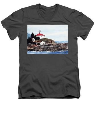 Eldred Rock Lighthouse Men's V-Neck T-Shirt