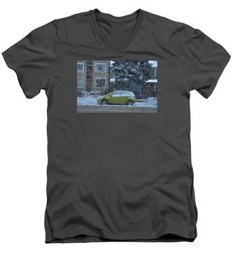 Men's V-Neck T-Shirt featuring the photograph Winter-2014 by Joseph Amaral