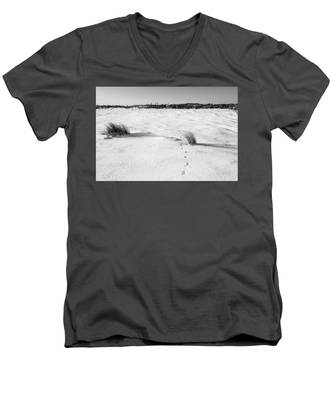 Footprints In The Snow I Men's V-Neck T-Shirt