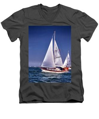 Full Sail Ahead Men's V-Neck T-Shirt