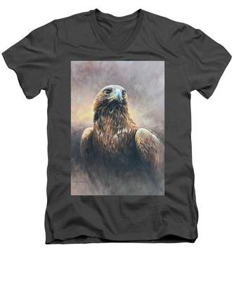 Golden Eagle Portrait Men's V-Neck T-Shirt