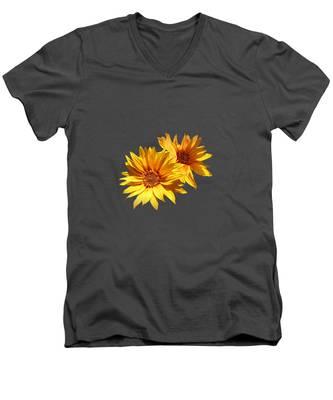 Golden Sunflowers Men's V-Neck T-Shirt