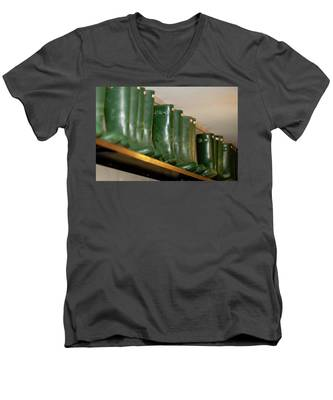 Green Wellies Men's V-Neck T-Shirt