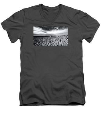 Gulls On Beach Men's V-Neck T-Shirt