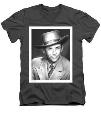 Hank Williams Men's V-Neck T-Shirt