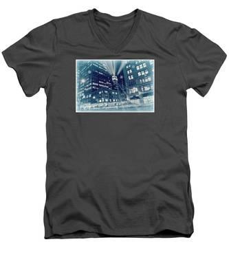 Happy Holidays From New York City Men's V-Neck T-Shirt