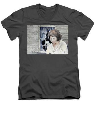Helen Men's V-Neck T-Shirt