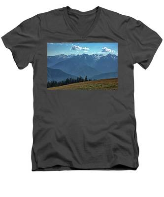 Men's V-Neck T-Shirt featuring the photograph Hurricane Ridge by Kyle Lee