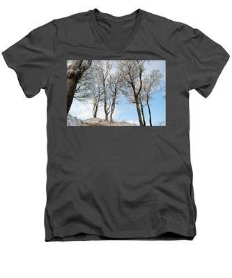 Icy Trees Men's V-Neck T-Shirt