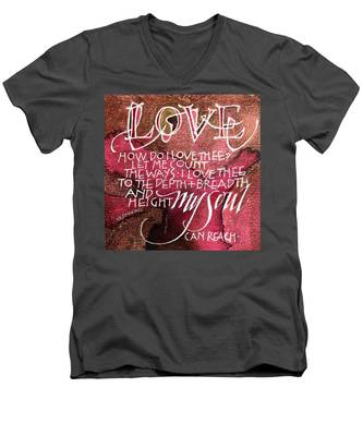 Inspirational Saying Love Men's V-Neck T-Shirt