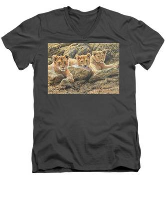 Interrupted Cat Nap Men's V-Neck T-Shirt
