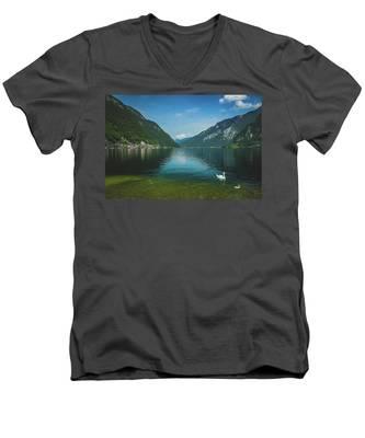 Lake Hallstatt Swans Men's V-Neck T-Shirt