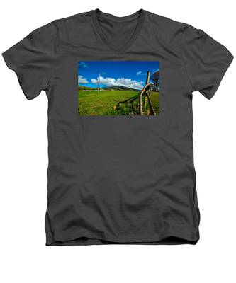Men's V-Neck T-Shirt featuring the photograph Landscapes-26 by Joseph Amaral