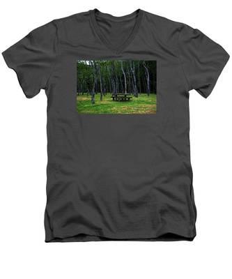Men's V-Neck T-Shirt featuring the photograph Landscapes-40 by Joseph Amaral