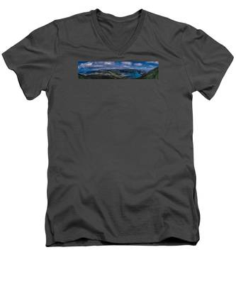 Men's V-Neck T-Shirt featuring the photograph Landscapespanoramas007 by Joseph Amaral