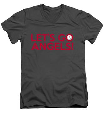 Let's Go Angels Men's V-Neck T-Shirt