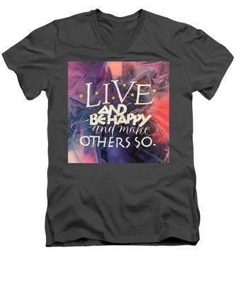 Live Men's V-Neck T-Shirt