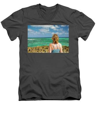 Looking Out Men's V-Neck T-Shirt