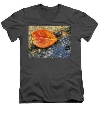 Loose Leaf Men's V-Neck T-Shirt