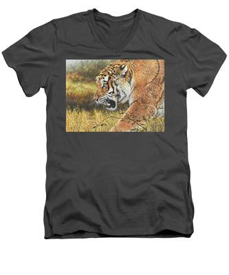 Lunch Time Men's V-Neck T-Shirt
