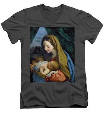Madonna And Child Men's V-Neck T-Shirt