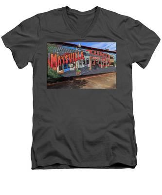Maysville Mural Men's V-Neck T-Shirt