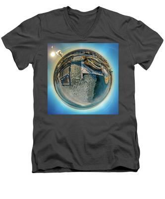 Milwaukee Pierhead Light Little Planet Men's V-Neck T-Shirt