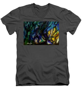 Moody Bleu Men's V-Neck T-Shirt