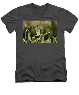 Morning Snowdrops Men's V-Neck T-Shirt